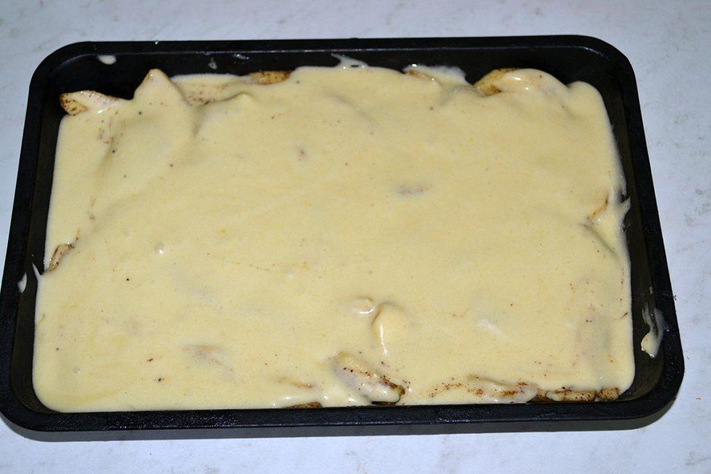 Фото рецепта - Заливная шарлотка с яблоками - шаг 8