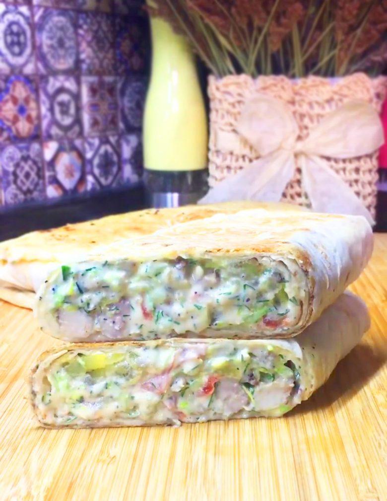 Фото рецепта - Шаурма с картошкой и курицей - шаг 3