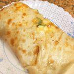 Домашняя шаурма с овощами, колбаской и сыром