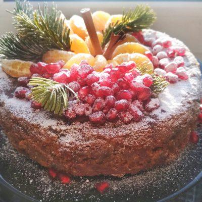 Кекс «Новогодний» с сухофруктами и миндалем - рецепт с фото