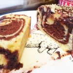 Мраморный кекс «Зебра»