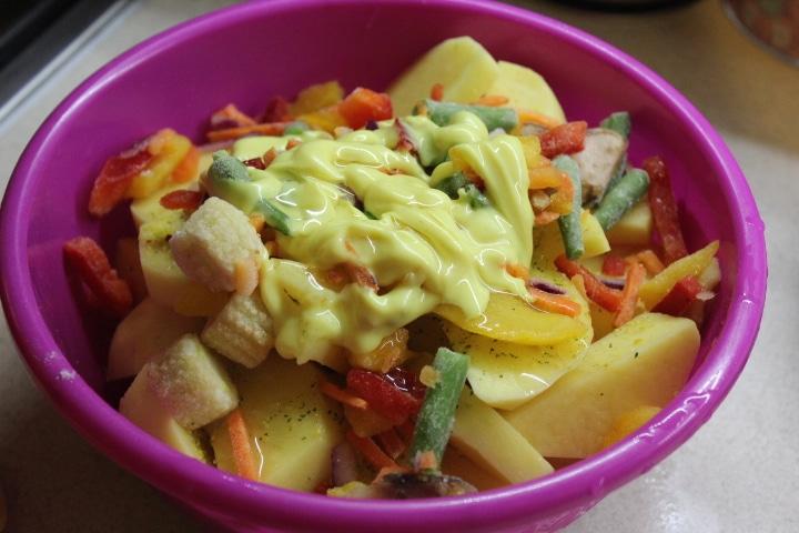 Фото рецепта - Картофель по-мексикански (овощной гарнир) - шаг 4