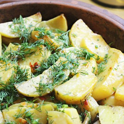 Картофель по-мексикански (овощной гарнир) - рецепт с фото