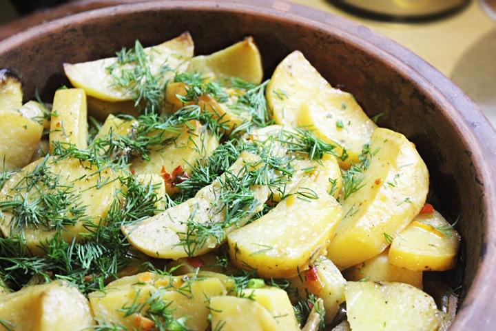 Картофель по-мексикански (овощной гарнир)