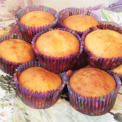 Апельсиновые кексы с ароматом ванили - рецепт с фото