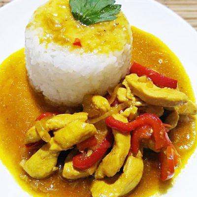 Курица по-тайски со сладким перцем - рецепт с фото