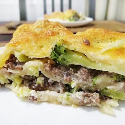 Лазанья с фаршем и брокколи - рецепт с фото