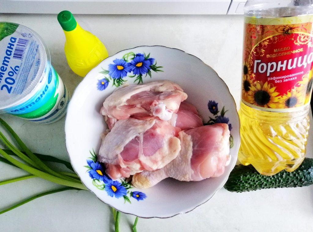 Фото рецепта - Жареная курочка в сметане из мультиварки - шаг 1