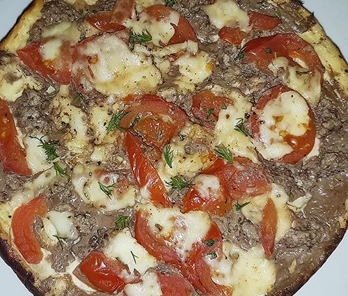 Диетическая «фальшивая» пицца на твороге, в мультиварке