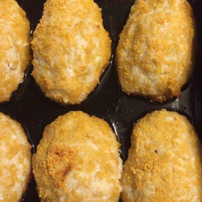 Куриные котлеты с хрустящей корочкой, в духовке - рецепт с фото