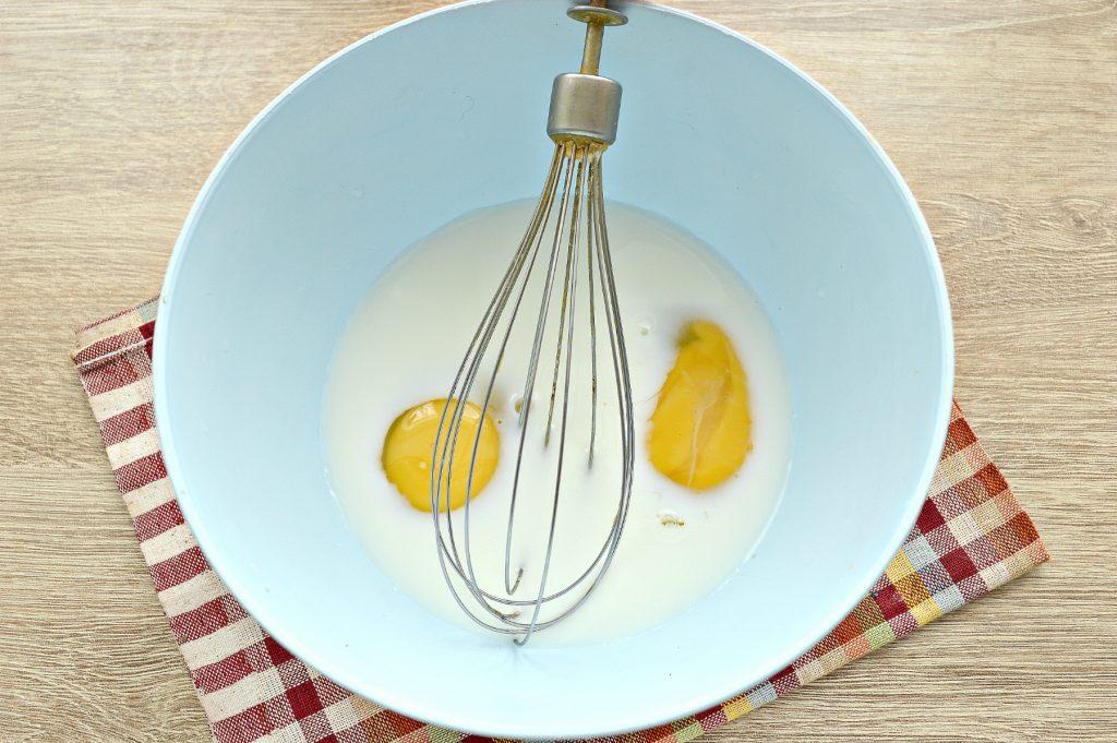 Фото рецепта - Блины с дырочками на молоке - шаг 2