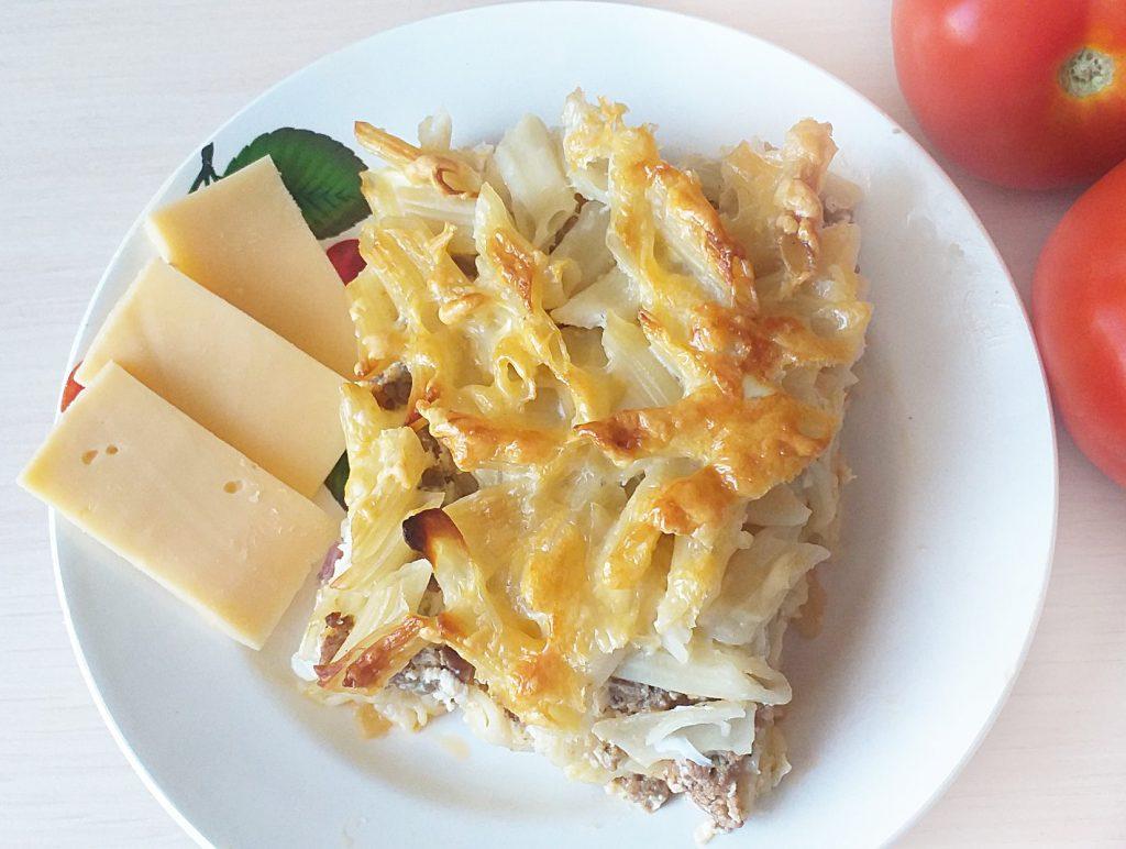 Фото рецепта - Запеканка из макарон с фаршем и сыром - шаг 7
