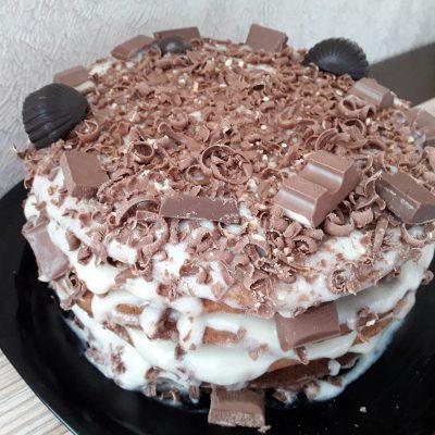 Торт Рыжик с заварным кремом - рецепт с фото