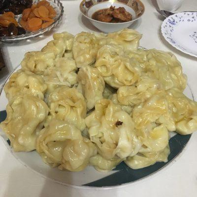 Манты с фаршем говядины-баранины - рецепт с фото