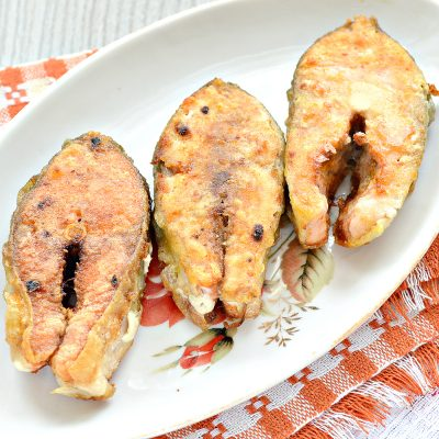 Горбуша жареная - рецепт с фото