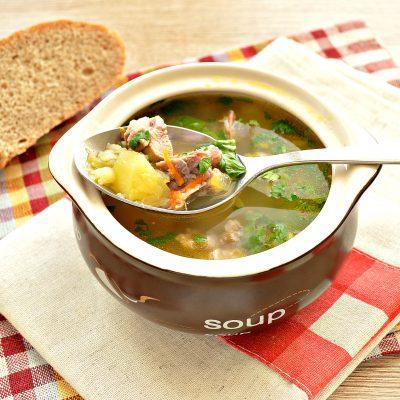 Гороховый суп со свининой - рецепт с фото