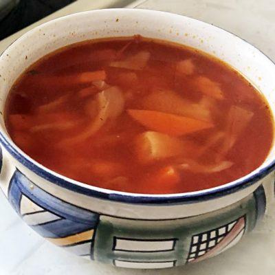 Вегетарианский борщ на овощах с сельдереем - рецепт с фото