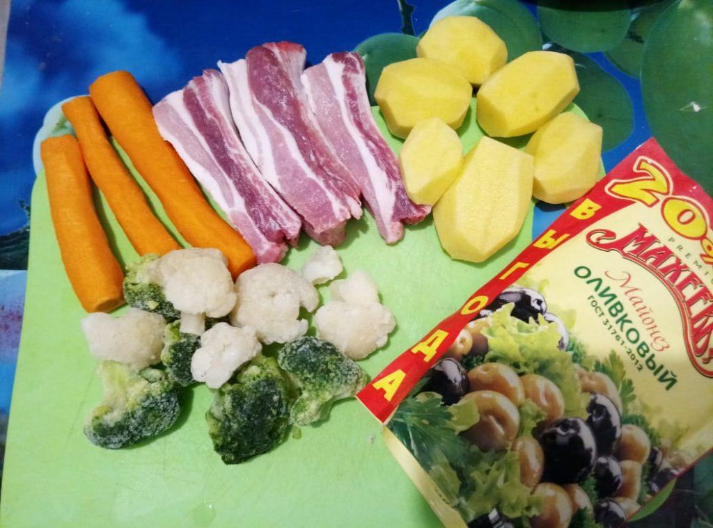 Фото рецепта - Свиные ребра с овощами - шаг 1
