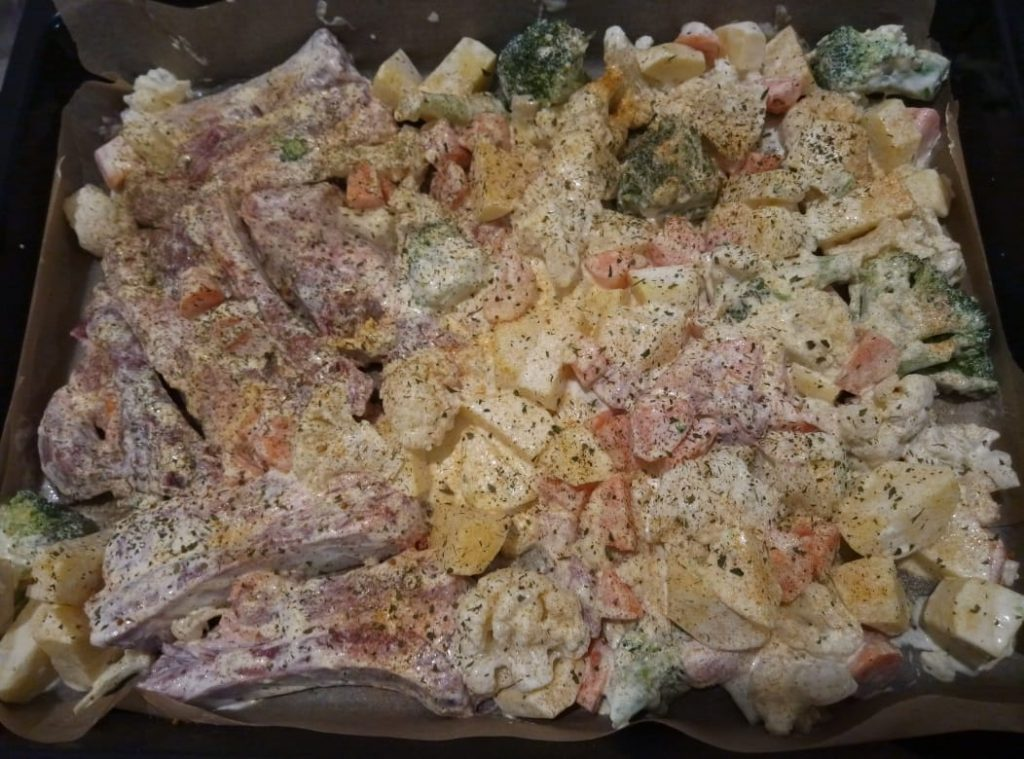 Фото рецепта - Свиные ребра с овощами - шаг 5