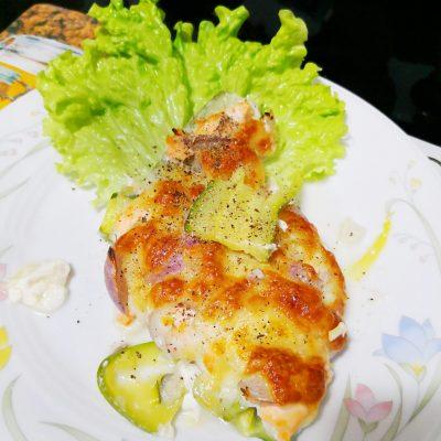 Запеканка из кабачков с семгой по-итальянски - рецепт с фото