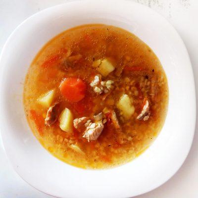 Томатный рыбный суп с булгуром - рецепт с фото