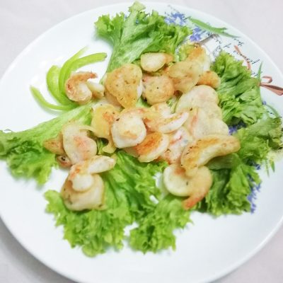 Креветки в кляре из рисовой муки - рецепт с фото