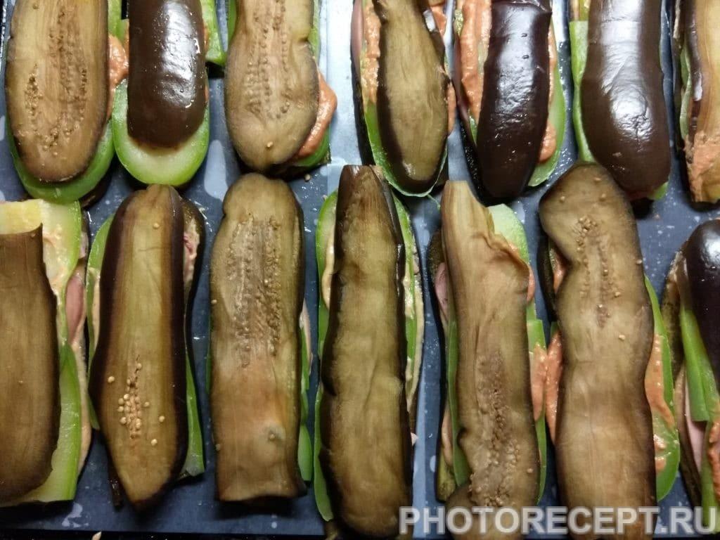 Фото рецепта - Баклажанно-кабачковые сэндвичи с сыром - шаг 6