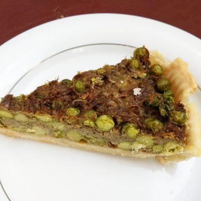 Пирог Киш с зеленым горошком и свининой - рецепт с фото