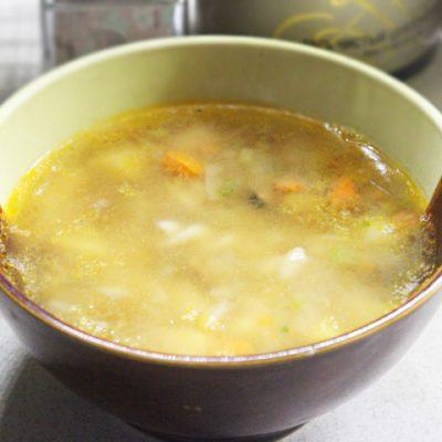 Пикантный суп с морепродуктами и макаронами - рецепт с фото