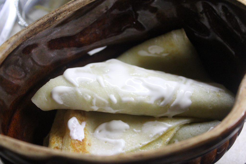 Фото рецепта - Запеченные блины с грибами и луком - шаг 6