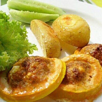 Кабачки запеченные в духовке с фаршем - рецепт с фото