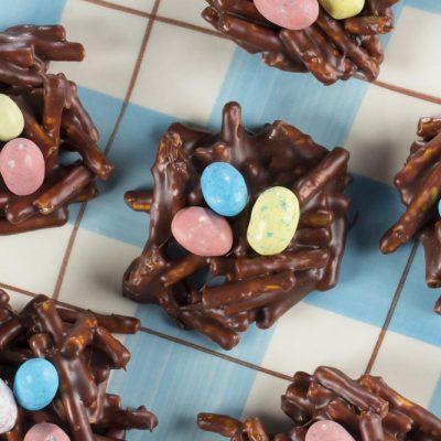 Печенье «шоколадные гнезда» - рецепт с фото