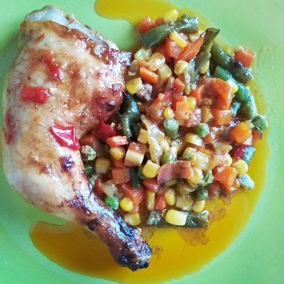 Мексиканская смесь с курицей, запеченная в духовке - рецепт с фото