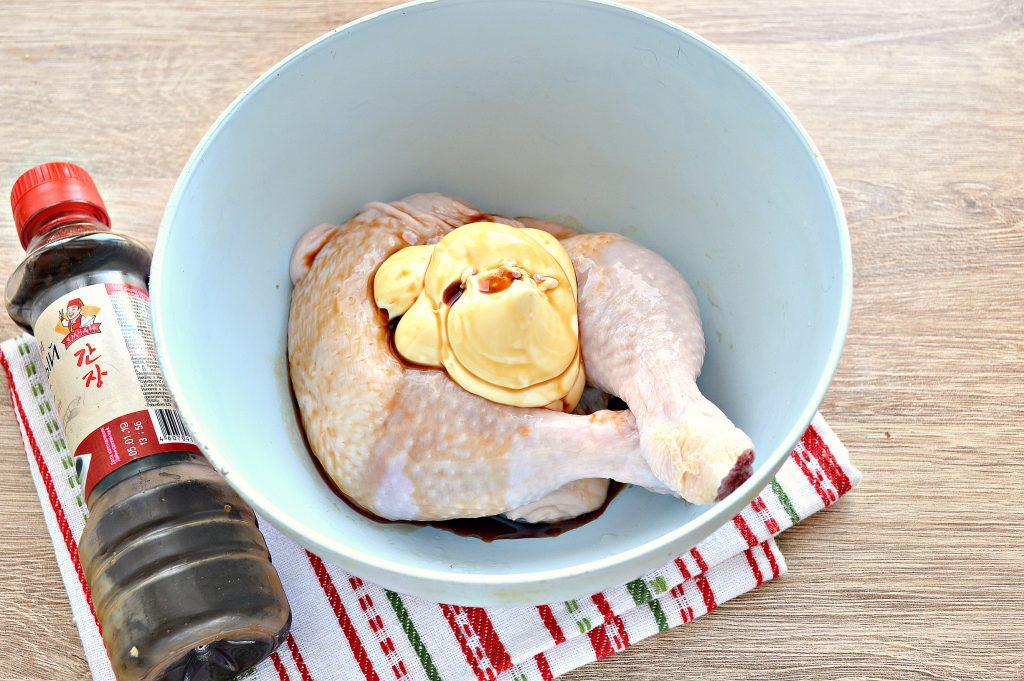 Фото рецепта - Окорочка куриные с овощами в духовке - шаг 2
