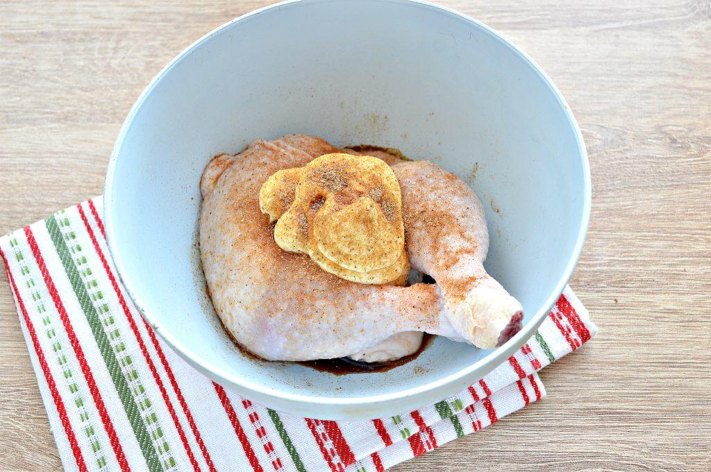 Фото рецепта - Окорочка куриные с овощами в духовке - шаг 3
