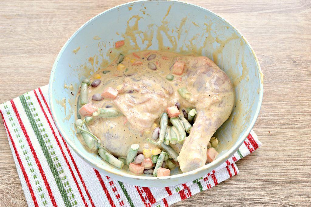 Фото рецепта - Окорочка куриные с овощами в духовке - шаг 5