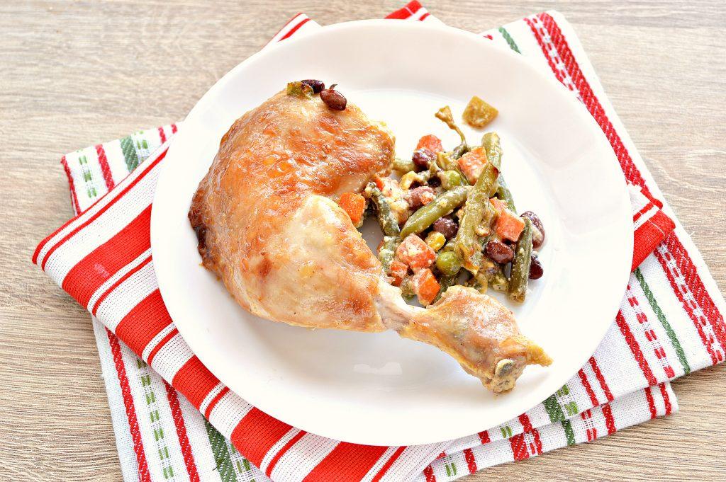Фото рецепта - Окорочка куриные с овощами в духовке - шаг 8