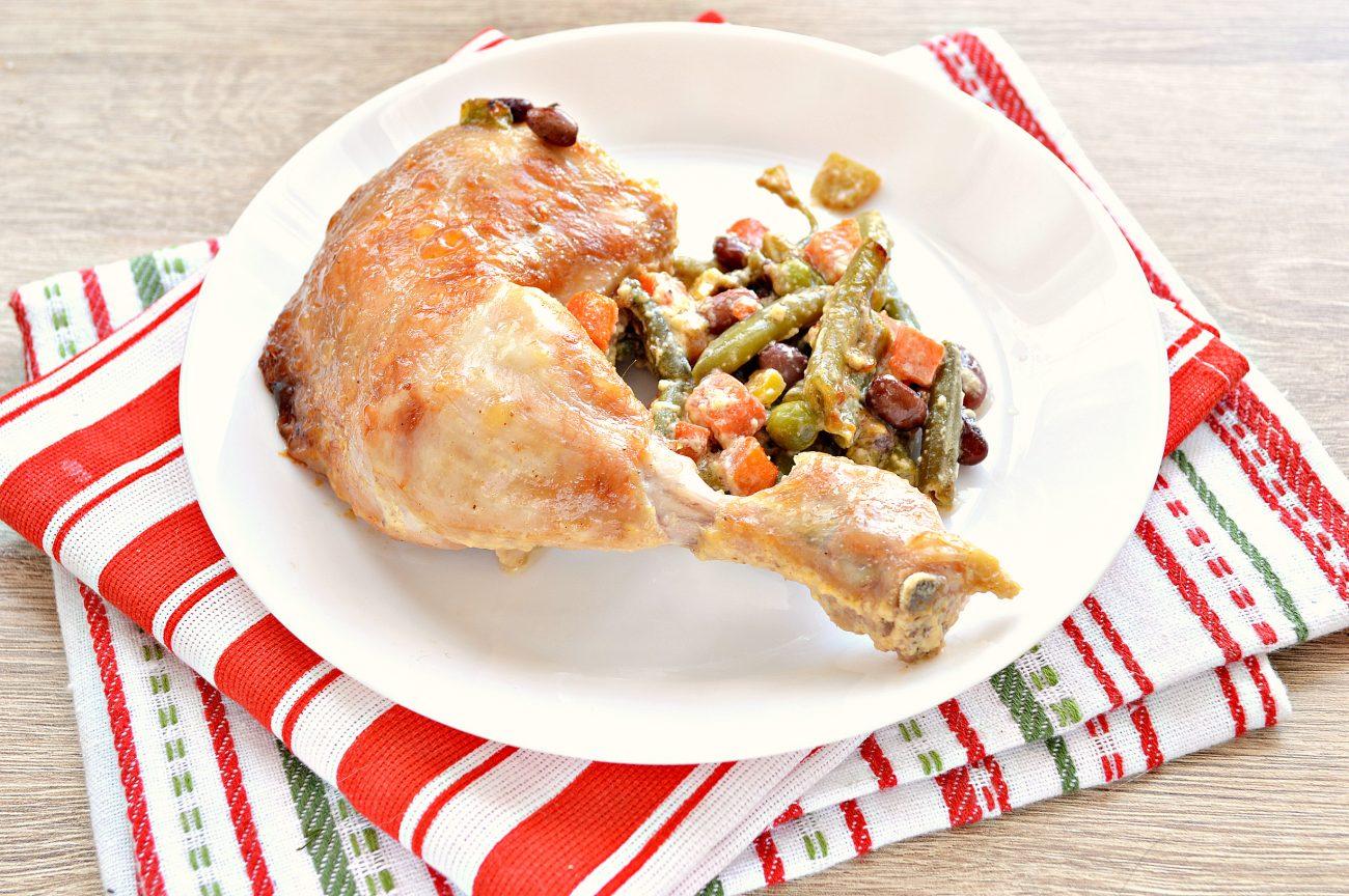 Окорочка куриные с овощами в духовке