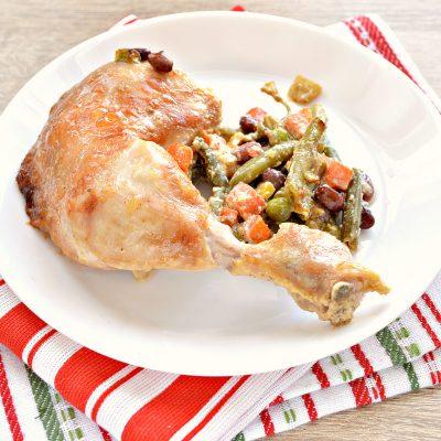 Окорочка куриные с овощами в духовке - рецепт с фото