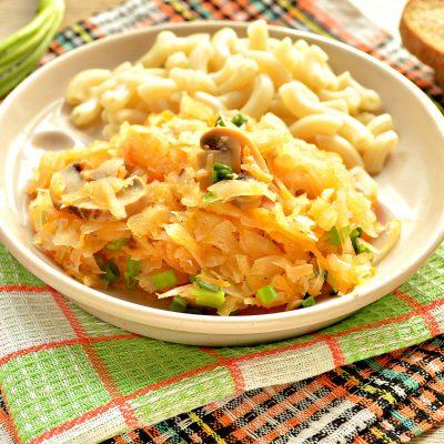 Солянка из капусты с маринованными шампиньонами - рецепт с фото