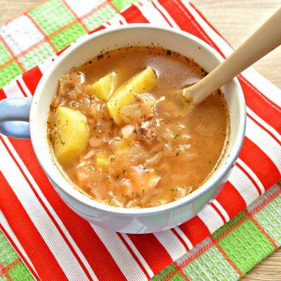 Суп на курином бульоне из готовой овощной солянки - рецепт с фото