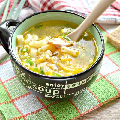 Куриный суп с макаронами без картофеля - рецепт с фото