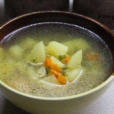 Чесночный суп с курицей - рецепт с фото