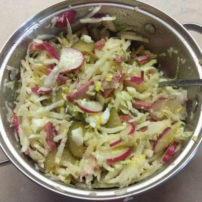 """Овощной салат с колбаской """"Весеннее настроение"""" - рецепт с фото"""