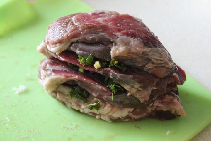 Фото рецепта - Свинина с молодой зеленью в духовке - шаг 4