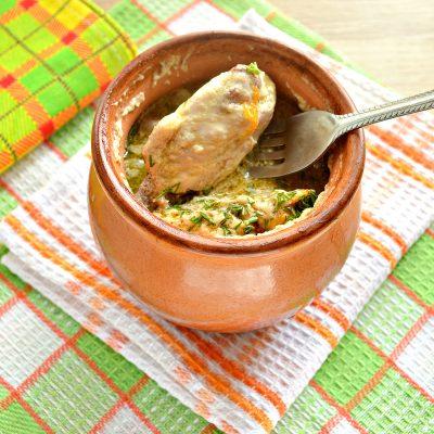 Куриные крылышки в горшочке с картофелем - рецепт с фото